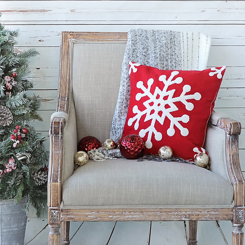Snowflake Canvas Pillow Cover