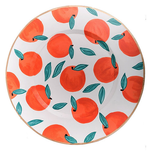 "Oranges 14"" Charger Plate by Jaye's Studio"