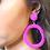 Thumbnail: Girl Next Door Beaded Hoop Earrings