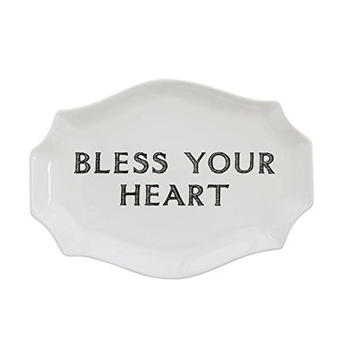 Bless Your Heart Stoneware Plate