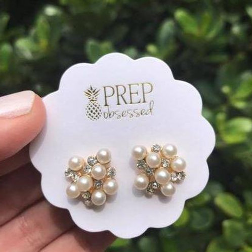 Bubbly Pearl Cluster Studs by Prep Obsessed
