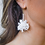 Thumbnail: Broadway Beaded Pom Earrings in White