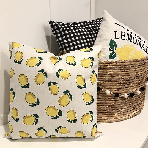 When Life Gives You Lemons Pillow Cover