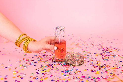 Confetti Acrylic Coasters by Taylor Elliott Designs