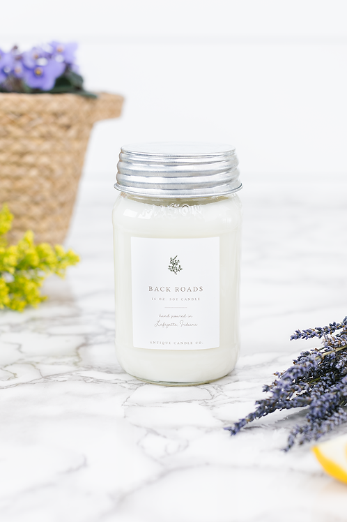 Back Roads 16 oz. Candle by Antique Candle Co.