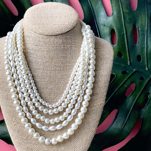 Grace Multi-Layered Pearl Necklace by Prep Obsessed