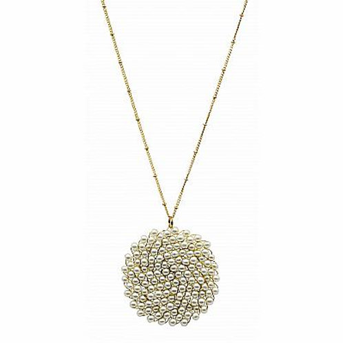 Meghan Browne Style Frita Pearl Necklace