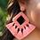 Thumbnail: Ellie Fringe Drop Earrings Peach