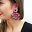 Thumbnail: Sippin At Sunset Beaded Fringe Earrings