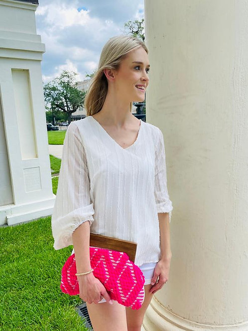 Northbrook Clutch in Hot Pink