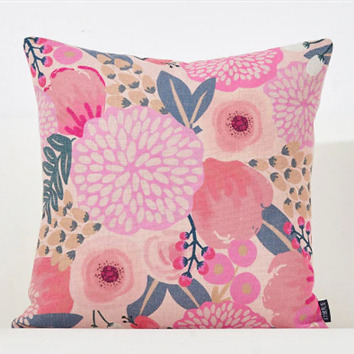 Light Pink Floral Pillow Cover