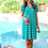 Thumbnail: Abby Perfect V-Neck Striped Dress