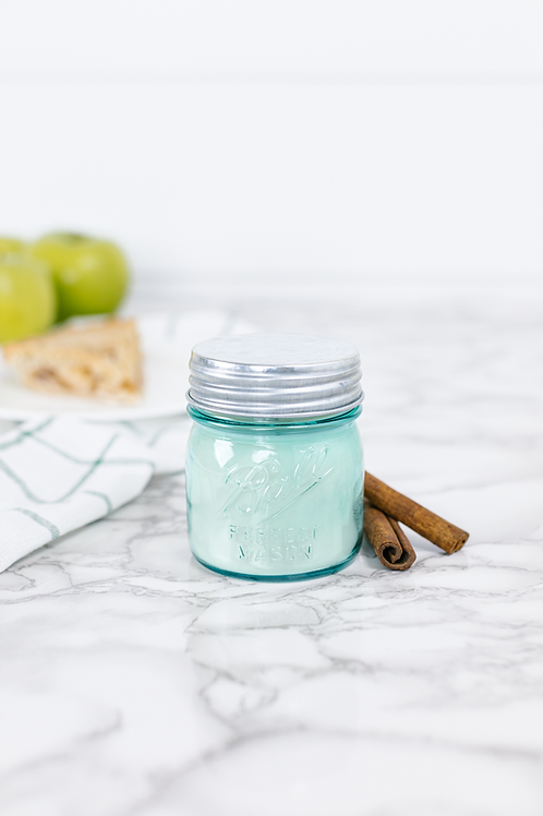 Momma's Kitchen 8 oz. blue jar candle by Antique Candle Co.