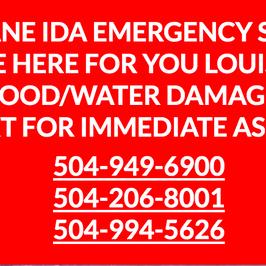 HURRICANE IDA- WATER DAMAGE RESTORATION SERVICES
