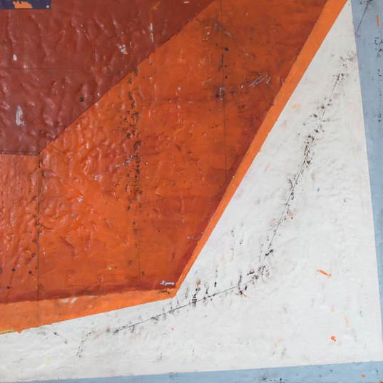 Focal Length, 38x38x3, Encaustic on Pane
