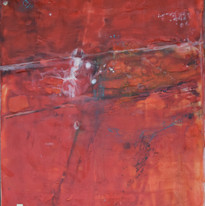 Strong on Red, 22_ x 30_, Encaustic on P