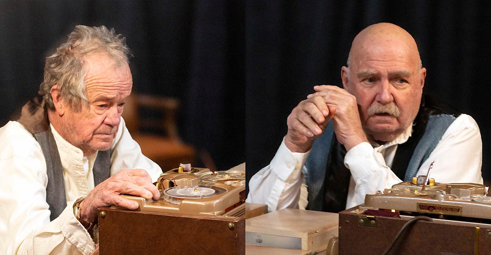 "James Cady (left) and  Philip J. Shortell (right) in ""Krapp's Last Tape."