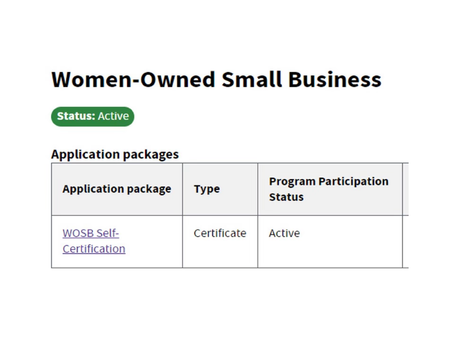 Officially a Women-Owned Small Business