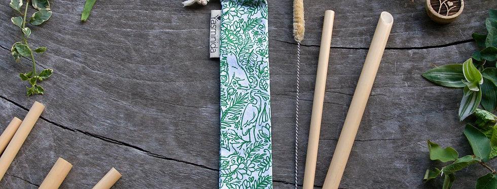 Bamboo Straw Set - Nature