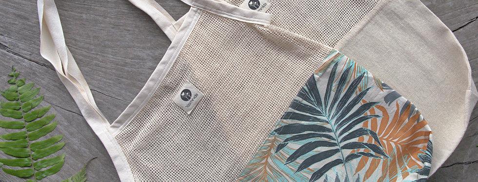 Jegeg - Mesh & Canvas Shopping Bag