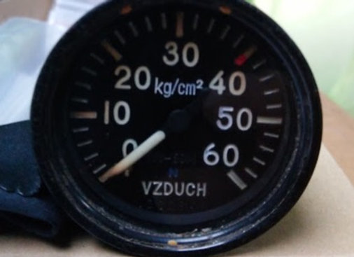 MANOMETER VZDUCH 0-60 kg/cm2