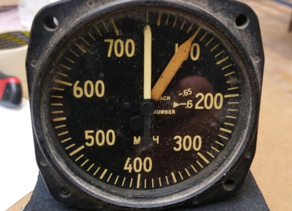 AIR SPEED INDICATOR The Green Leaf 0-700 MPH