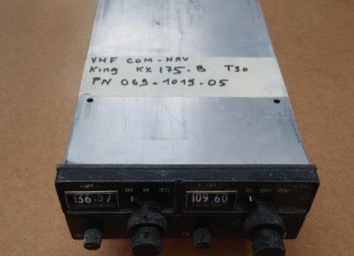 VHF COM NAV King KX 175 B TSO