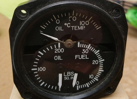 MULTI GAUGE Aircraft Instrument Oil+Fuel press+ Oil temp