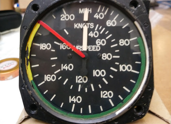 AIR SPEED INDICATOR Aircraft Instrument 0-200 MPH
