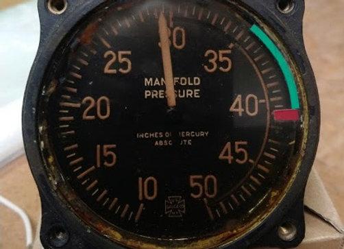 MANIFOL PRESSURE GAUGE Us Gauge Co 10-50 INHG