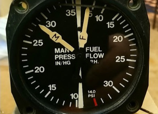MANIFOLD PRESSURE / FUEL FLOW 10-35 IN HG 5-32 GPH