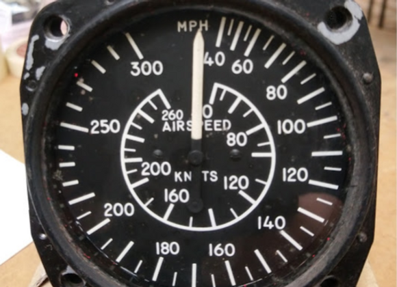 AIR SPEED INDICATOR Kollsman 40-300 MPH