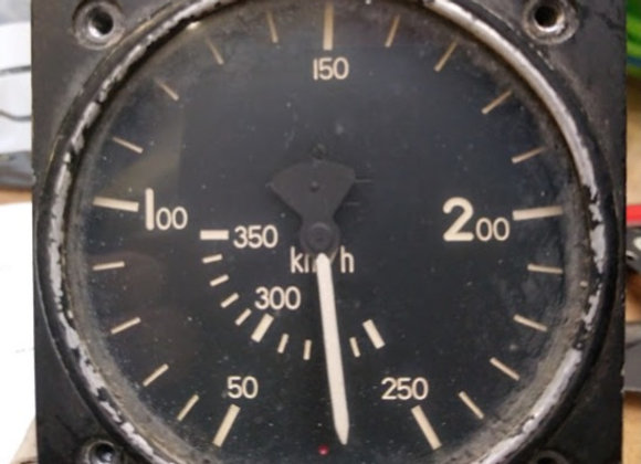 AIR SPEED INDICATOR Badin Type 102 0-350 km/h