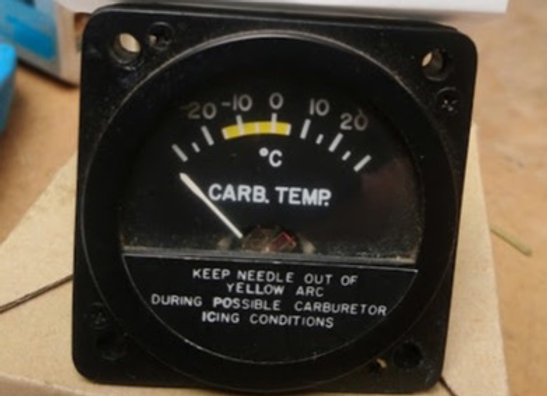 CARBURATOR TEMPERATURE INDICATOR Aircraft Instruments