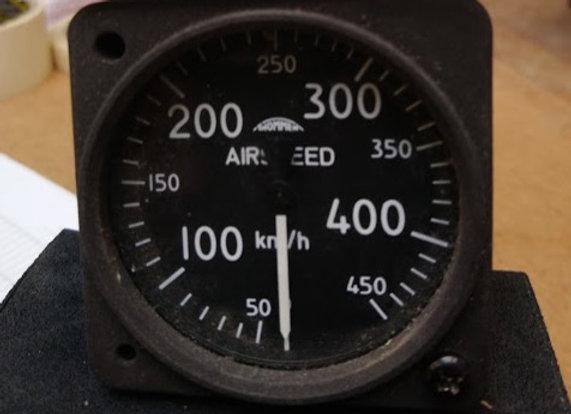 AIR SPEED INDICATOR Thommen 0-450 km/h