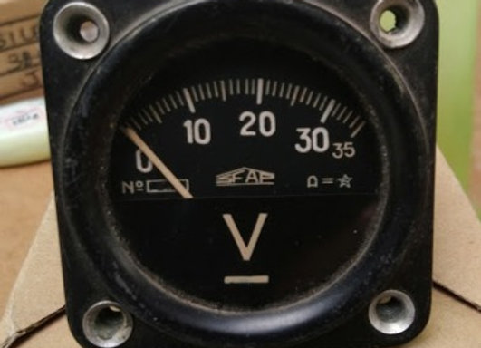 VOLTMETER GAUGE Sfap 0-35V