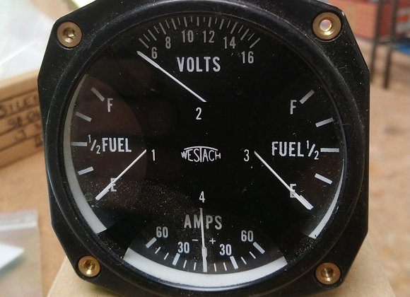 QUAD ELECTRIC GAUGE Westach Fuel-Volts-Amps