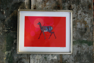 THE DEER FRAMED