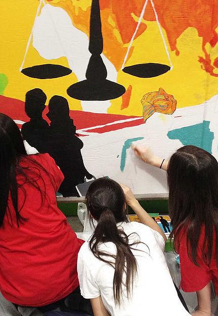 Murale SoArt avec Sophie Stella Bivin