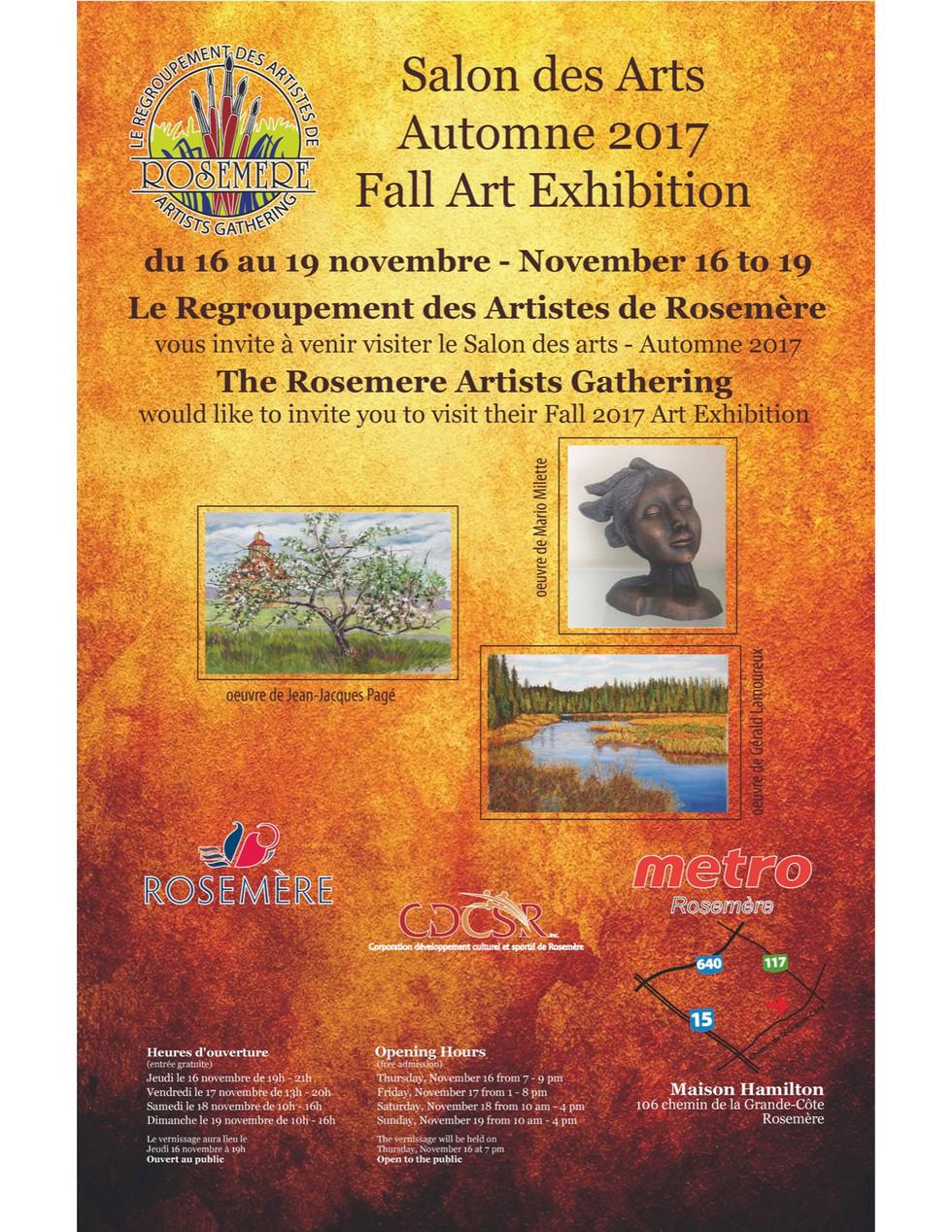 Salon des arts de l'automne 2017