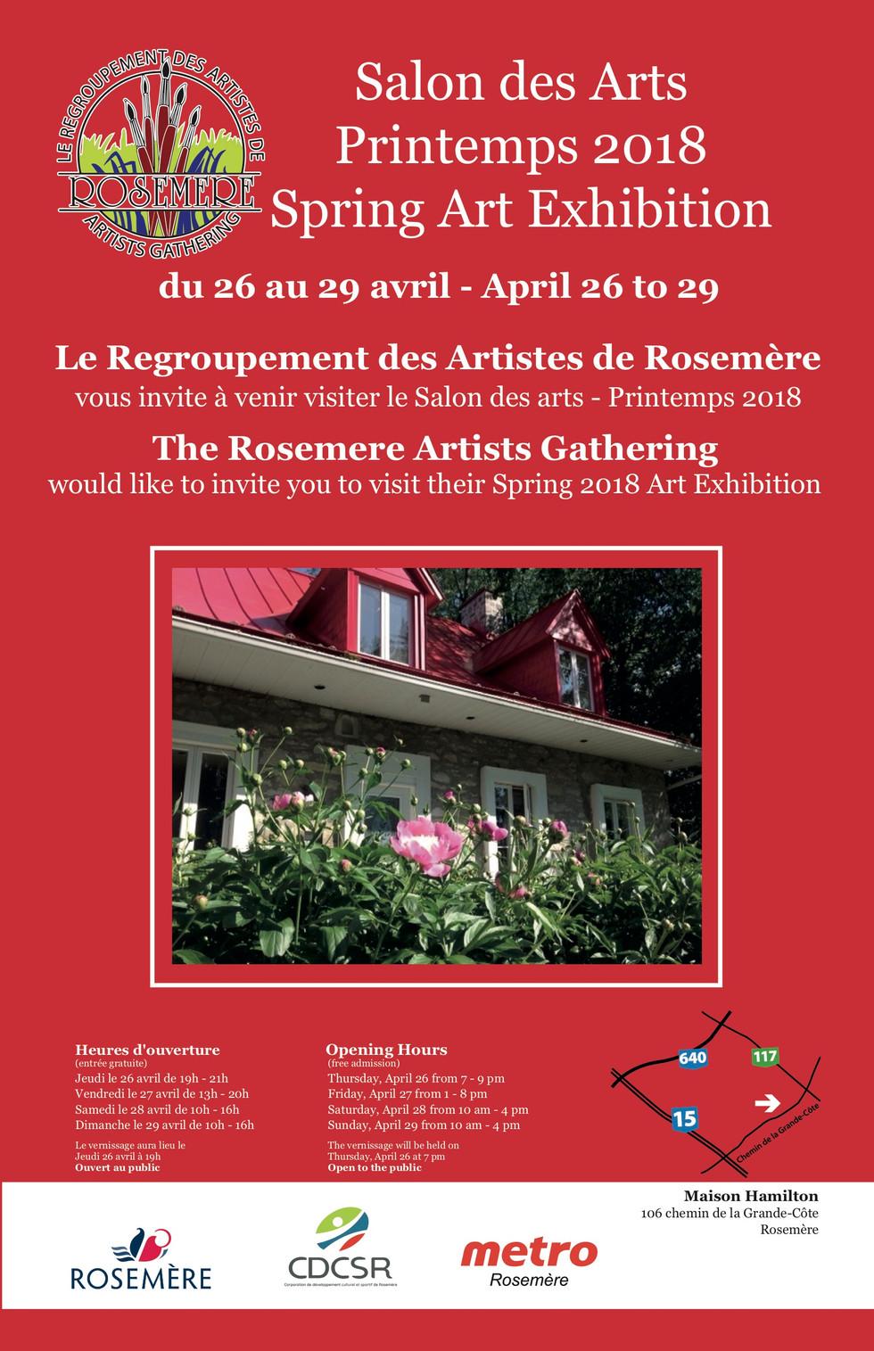 Salon des arts du printemps 2018