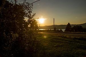 coucher de soleil sur verger gaston drouin