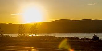 coucher de soleil sur l'ile