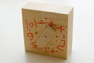 Holz-Spielzeug-Uhr
