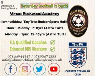 Saturday Sessions are back at Rockwood Academy!