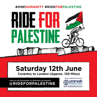 Coach Rehman 'Rides for Palestine'