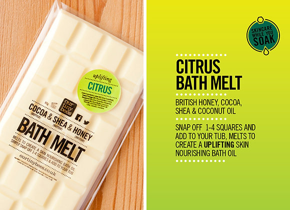 Citrus 100% Natural Bath Melt from Our Tiny Bees at Serenity