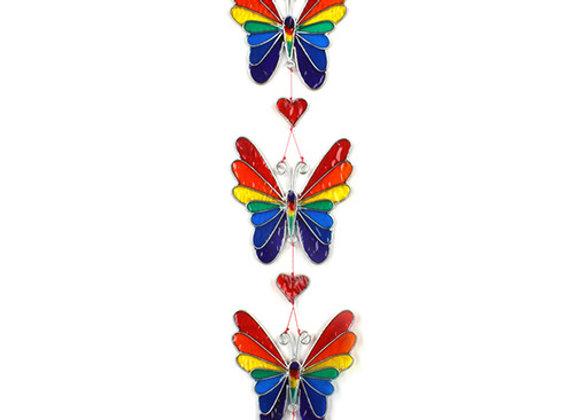 Rainbow Butterflies Suncatcher