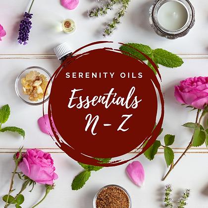 10ml Essential Oils N-Z