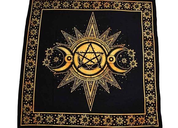 Gold Triple Moon Altar Cloth